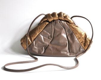 Vintage Metallic Leather Purse