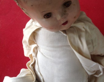 antique composition baby doll approximately 24""