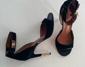 Givenchy sharklock suede sandals
