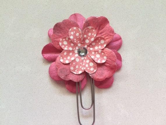 Pink Red Floral Boho Spring Tye Dye Watercolor Flower Planner