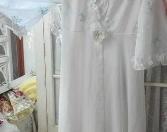 Dressing gown  white shabby chic Bride