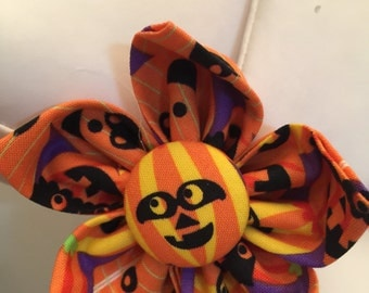 Flower Collar Attachment & Accessory for Dogs and Cats / HALLOWEEN Jack-O-Lanterns