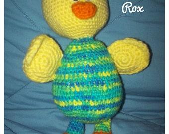CROCHET PATTERN Radley the Duck in Pajamas,  Large stuffed duck, with FREE bonus crochet pattern!!