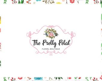 Floral Bouquet Premade Logo Design - Web, Blog, Print - Limited Edition! Perfect For Boutique, Florist, Photography, Blogger, Stylist + more