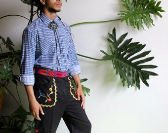 Embroidered Gaucho Pants