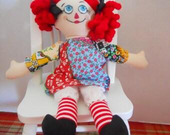 Mini Art Rag Doll RaggedyMuffins OOAK