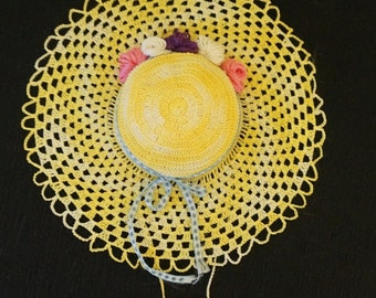 Crochet Pincushion; Starched; Thimble Pouch; Approx. 7.5 Inches; Beautiful Workmanship !!!