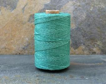 4 Ply Sage Green Waxed Irish Linen Thread 10 Yards WIL-32,green linen thread,green waxed linen,sage linen thread,4 ply linen thread,