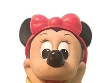 Minnie Mouse Doll ~ Vintage Walt Disney Toys ~ R Dakin Co. Hong Kong ~ Cartoon Character Collectible