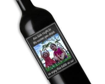 Gift for a Teacher Wine Bottle Label