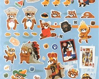 Red Panda sticker,craft supply,scrapbook supply,diary sticker,colorful sticker