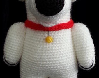 Brian Griffin FAMILY GUY Crochet  PDF Pattern