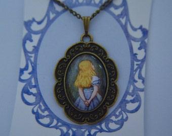 Alice in Wonderland Alice silver necklace