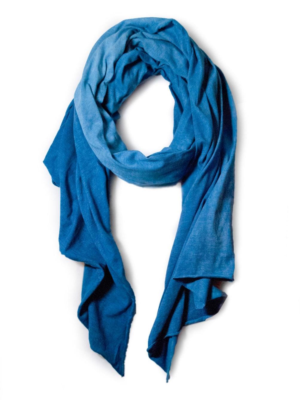 indigo cotton jersey scarf dyed scarf indigo