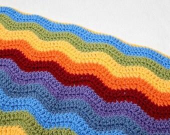 CROCHET PATTERN Crochet Ripple Blanket Pattern Baby Blanket Pattern Ripple Blanket Baby Blanket Ripple Crochet Baby Blanket Photo Prop #15