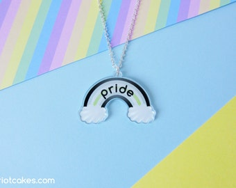 Agender Rainbow Pride Necklace