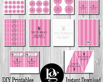 Victoria's Secret | Victoria's Secret Party | Victoria's Secret Birthday Party | Victoria's Secret Printable | Victoria's Secret Decorations