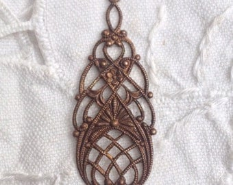 Vintage Antique 1920's Czech Brass  Filagree Filigree