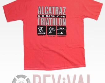 Vintage Alcatraz Triathlon T Shirt ~ XXL