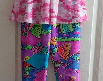 Girls leggings with attached skirt or without attached skirt