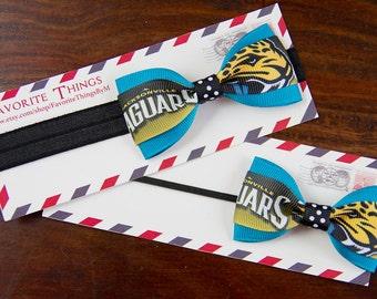 Jacksonville Jaguars Teal Tuxedo Headband.