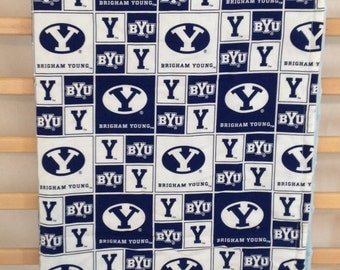 BYU Blanket - BYU Baby Blanket - Blue Baby Blanket - College Blanket - Football Blanket - Minky Blanket - Toddler Blanket - Crib Blanket