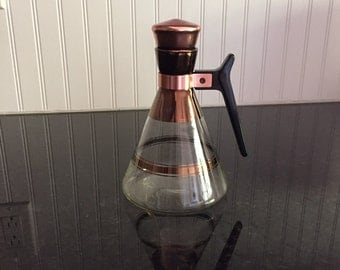 Vintage Carafe with Copper and Cork Top