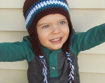 Crocheted Beanie Boy/Girl Hat- Ready to Ship!!
