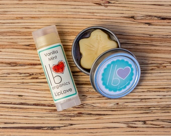 Lips + Lotion Organic Gift Set // Choose your Scents