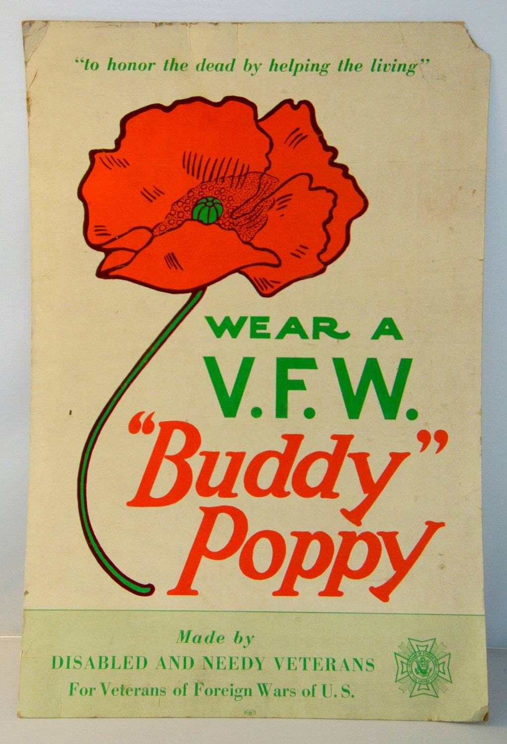 how to wear buddy poppy