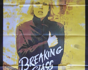 Original Large 1980 French Movie Poster for the Film Breaking Glass Starring Hazel O'Connor