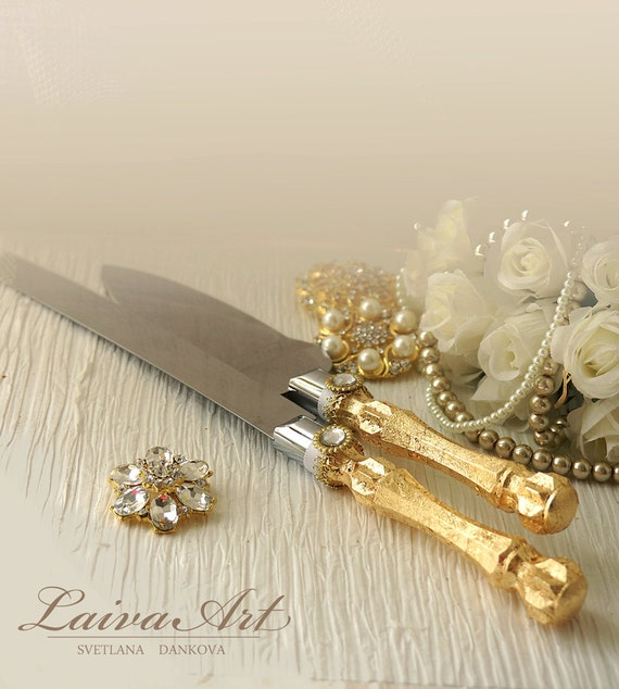 gold wedding cake knife gold wedding cake server set amp knife cake cutting set by 14814