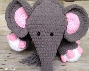 Crochet Elephant Pattern/Crochet Pattern/Blanket Yarn/Amigurumi/Elephant/Stuffed Elephant/Crochet Stuffed Animal/Amigurumi Pattern