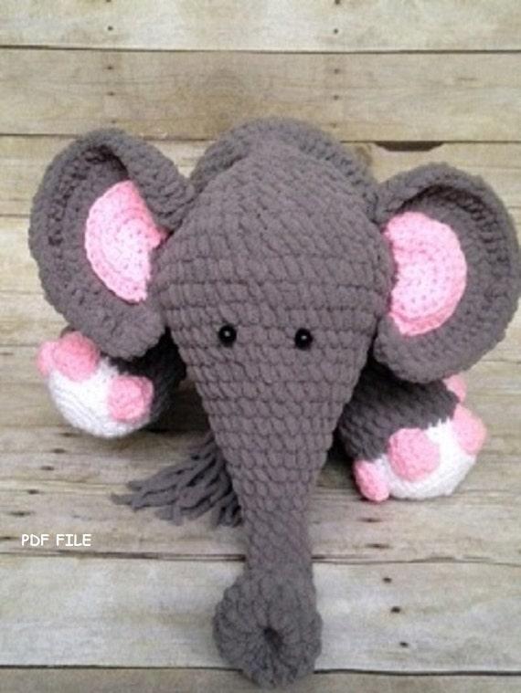 Crochet Elephant Blanket : Crochet Elephant Pattern/Crochet Pattern/Blanket Yarn/Amigurumi ...