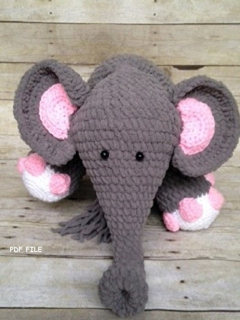 Amigurumi Elephant Blanket : Crochet Elephant Pattern/Crochet Pattern/Blanket
