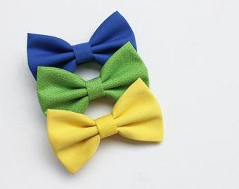 Papillon per bambino stampa floreale giallo e blu farfallini for Papillon bambino fai da te