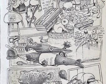 The Ventriloquist - Biro sketchbook cartoon