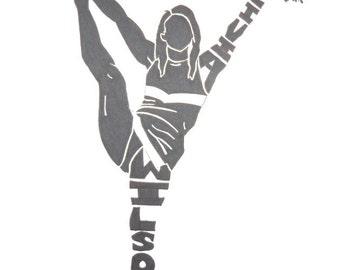 Women's Cheerleading Silhouette