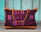 Huipil tote bag purse textile Guatemalan