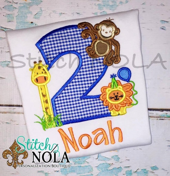 Zoo, Safari, Animals Birthday Shirt, Romper, Bodysuit or Bubble