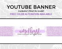 Youtube Banner Design   Vlog Cover   Vlog Design   Beauty Vlog   Fashion Vlog Cover   Youtube Cover Design   Glam Purple Design   AMETHYST
