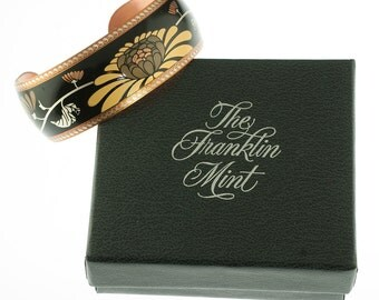Franklin Mint Copper Flower Cuff
