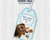 The Secret Life of Pets Favor Tags