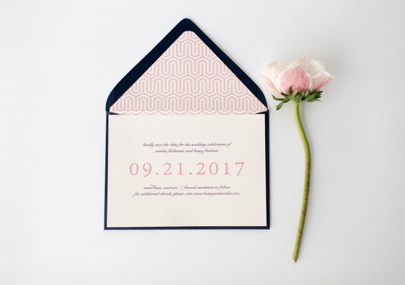 amelia save the date invitation  -  customizable (sets of 10)  //  lola louie paperie