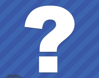 Question Mark Symbol Vinyl Decal Sticker Punctuation
