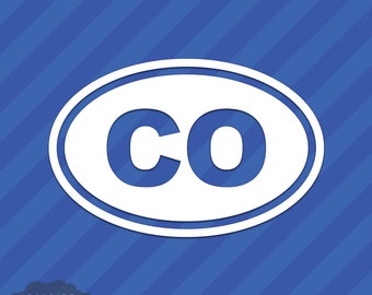 Colorado CO Oval Vinyl Decal Sticker