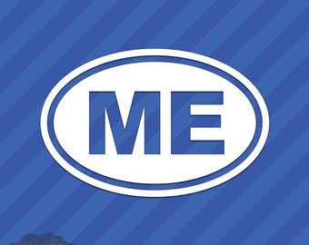Maine ME Oval Vinyl Decal Sticker