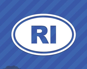 Rhode Island RI Oval Vinyl Decal Sticker