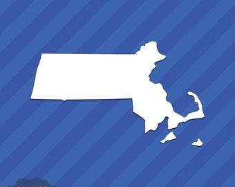 Massachusetts MA State Outline Vinyl Decal Sticker