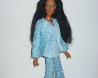 1976 Mego Cher Fashion Doll - Wears Herky Jerky and Means Business Clothing